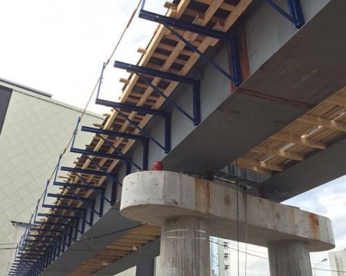 Мостовая опалубка консоли