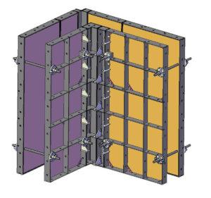 Схема сборки мелкощитовой опалубки