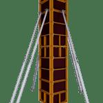 Мелкощитовая опалубка колонн