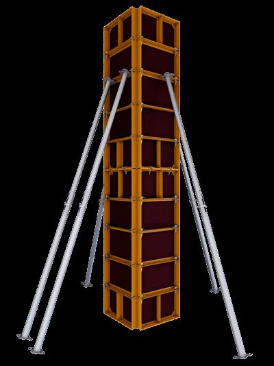 Опалубка колонн на мелкощитовой опалубке