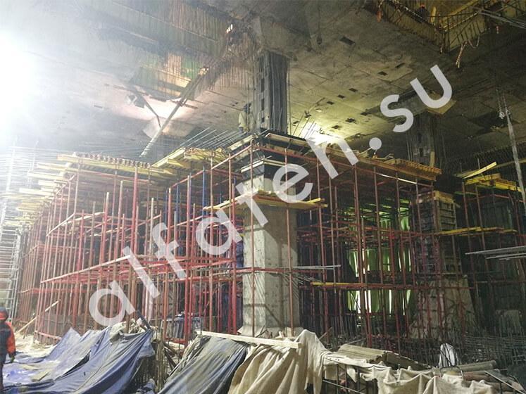 Объемная опалубка для строительства метро