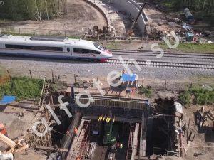 Строительство тоннеля под ЖД путями