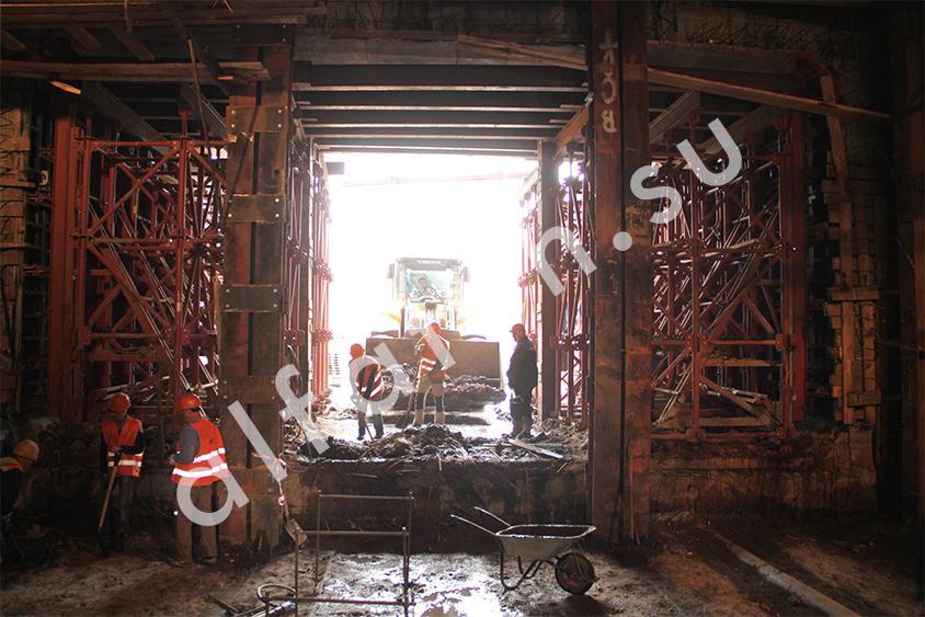 Установка тоннельной опалубки