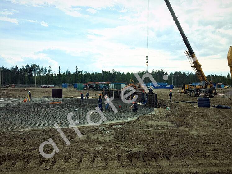 Подготовка площадки резервуара