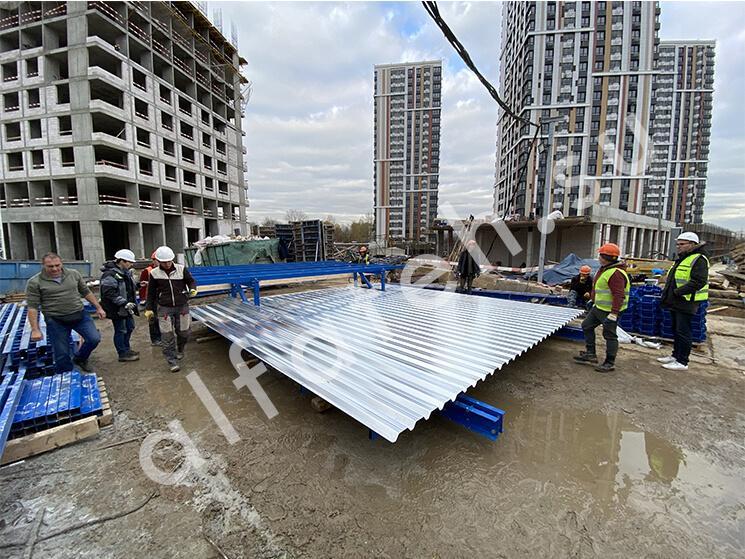 Ветрозащитные экраны для жилого комплекса