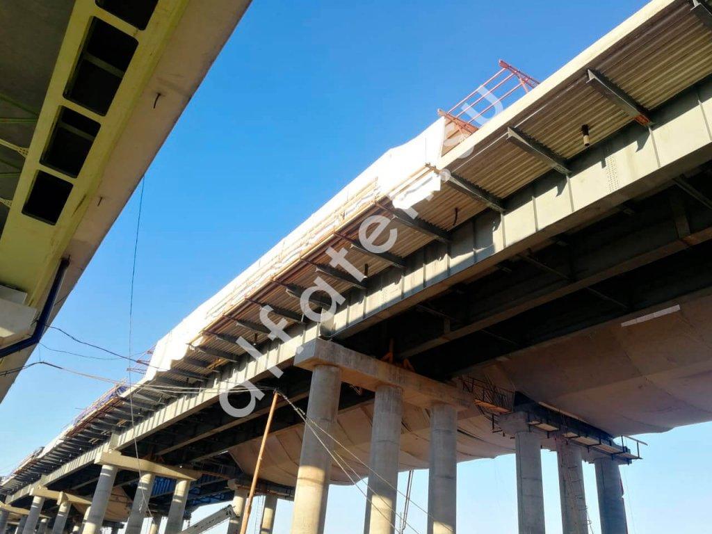 Тепляк для пролетного строения моста